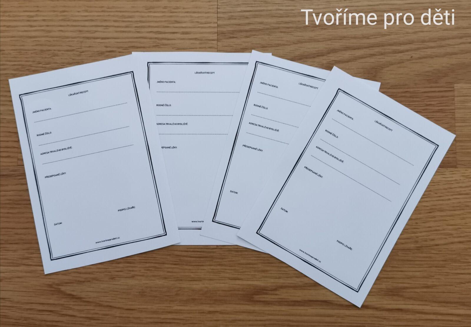 Lékařský kufřík: Formuláře
