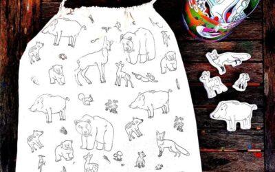 Tisk na textil: Pytlík z lesa