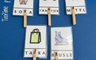 Kolíčkové karty: abeceda